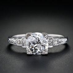 1.16 Art Deco Diamond Ring in Platinum - 10-1-3896 - Lang Antiques