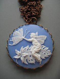 Fairy Cameo Necklace by SilverTrumpet on Etsy, $25.00