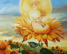 Лиза Рэй – Поцелуй утреннего Солнца Liza Ray  -  The kiss of the morning sun Х.м., 80Х65, 2016 oil on canvas #surreal #surrealism #超現實主義 #surréalisme #シュールレアリズム  #painting #LizaRay #сюрреализм #ЛизаРэй #живопись #картины #художник #art