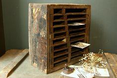Rustic Crate Organizer