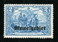 Memel 1920 Scott 16 2m blue