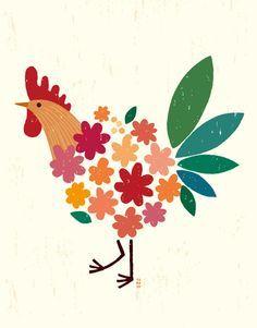 Resultado de imagen para charley harper ilustrador gallo