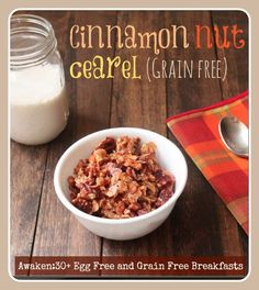 Grain-free/egg-free/dairy free cinnamon nut cereal (GAPS)