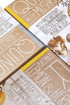 Pereg Gourmet Natural Foods, #packaging by Squat Design - recycled raw paper