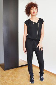 Mercredie / Salopette Axo,  Sneakers Nike #fashion #spritzi #blogger