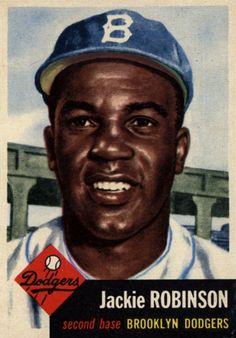 Jackie Robinson 42 Topps (1953) Brooklyn Dodgers