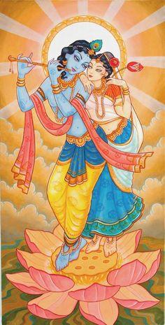 Radha Krishna by Nila Madhava Das
