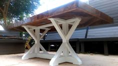 """I was commissioned to build a farmhouse table from scratch. The customer sent me a photo and said """"I want this table"""" I said, """"just like that?"""" They said """"yeah""""…"""