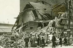 BOMB DAMAGE IN NOTINGHAM IN MAY 1941