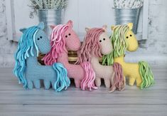 Crochet Toys Patterns, Amigurumi Patterns, Stuffed Toys Patterns, Crochet Dolls, Knitting Patterns, Crochet Horse, Love Crochet, Handmade Gifts, Handmade Ideas