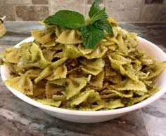 Try something a little different this week and get creative with this amazingly yummy pistachio mint pesto. Fantastic over pasta or paired with a meat. My Recipes, Italian Recipes, Italian Truffles, Sicilian, Apple Pie, Entrees, Brunch, Vegetarian, Mint