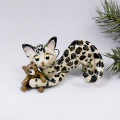 Your place to buy and sell all things handmade Cat Christmas Ornaments, Christmas Cats, Pet Dogs, Dog Cat, Pets, Hand Sculpture, Bengal, Cat Breeds, My Works