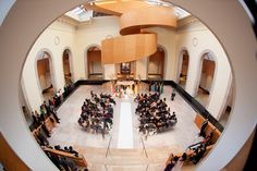 Art Gallery of Ontario wedding view from the top Art Gallery Of Ontario, Wedding Images, Marriage, Table Decorations, Mansions, Architecture, House Styles, Boston, Design