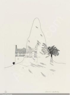 Hockney - glass mountain