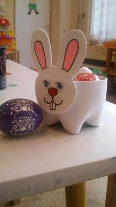 bunny bowl from plastic bottle