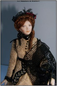 Emma, a french miniature doll by Béatrice Thiérus