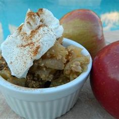 A simple apple crisp without oats, this recipe has only 6 ingredients. To make it exactly right, hunt out crisp, tart Haralson apples from Minnesota. 9x13 Apple Crisp Recipe, Apple Crisp Without Oats, Apple Crisp Recipes, Clean Recipes, Sweet Recipes, Cooking Recipes, Apple Desserts, Easy Desserts, Dessert Recipes