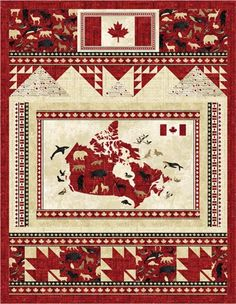 Northcott Silk Inc. is an International Distributor and Converter of fine cotton printed fabrics for the quilt, craft and home decor industries Flag Quilt, Quilt Blocks, Canada Celebrations, Canadian Quilts, Quilts Canada, Stained Glass Quilt, Canada 150, Quilt Of Valor, Sampler Quilts