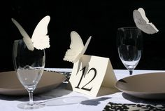 Table Cards and Glass Decor