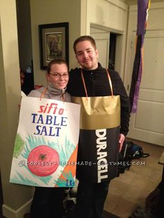 Great Wordplay Couple Costume Idea: Assault and Battery (A-Salt and Battery)... This website is the Pinterest of costumes