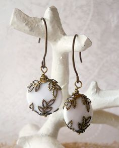 Items similar to Hera's Vintage Earrings on Etsy Vintage Earrings, Pearl Earrings, Drop Earrings, Embellishments, Diy Projects, Bling, Jewels, Wishful Thinking, My Style