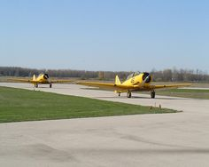 Canadian Harvard Trainers at Tillsonberg Airport, Ontario Harvard, Ontario, Planes, Trainers, Golf Courses, Aviation, Restoration, Airplanes, Air Ride