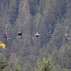 There is a mile-long zipline in Hoonah, Alaska, that starts 1,300ft above sea level and reaches speeds of up to 60mph.