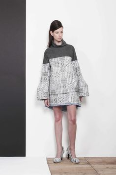 ARMANDO TAKEDA 2015-16AW LOOK18 #tops #highnecked #miniskirt