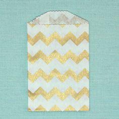 Tiny Paper Favor Bags FLATWARE bags Metallic von SwoonPartyShop