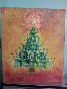 Our Handprint Christmas Tree