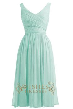Mint chiffon sweetheart neckline short bridesmaid dress with ruching bodice and corset back. this mismatch bridesmaid dresses is made of chiffon and elastic. Neckline:V-neck Length:Knee length Details