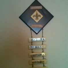 Cub Scout belt loop holder.