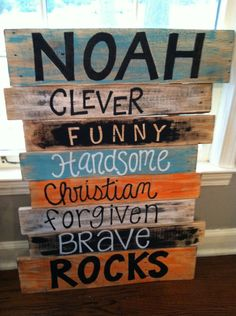 Pallet Art; perfect for son's room!!