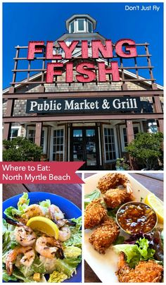 Check out the Flying Fish Public Market & Grill in North Myrtle Beach for your next family vacation. It's a great place to start off your visit with the kids. Myrtle Beach Vacation, Beach Trip, Beach Travel, North Myrtle Beach Restaurants, Best Family Vacation Spots, Family Travel, Disney Vacation Planning, Vacation Ideas, Spring Break Vacations