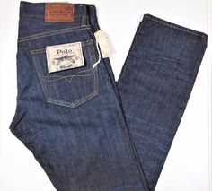 Polo Ralph Lauren men's Varick slim straight fit jeans size 42X34  NEW  #PoloRalphLauren #SLIMStraightLeg