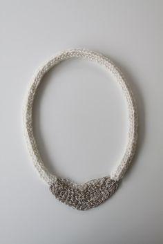 knit & crochet necklace