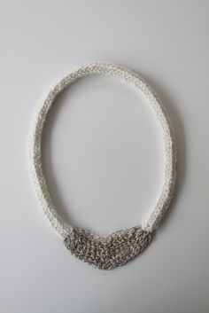 knit & crochet necklace