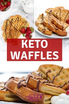 These keto waffles with almond flour are crispy on the outside and soft and fluffy on the inside. Inspired by famous Belgian waffles. Without any complicated ingredients. Best Keto Breakfast, Breakfast Recipes, Dessert Recipes, Snacks Recipes, Diet Snacks, Breakfast Ideas, Recipies, Low Carb Keto, Low Carb Recipes
