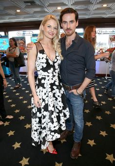 Jennifer Morrison and Colin O'Donoghue at The Nintendo Lounge - 11 july 2015