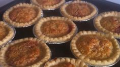 Little tarts with jam in the bottom and a coconut filling are a delicious old-time treat. Tart Recipes, My Recipes, Holiday Recipes, Strawberry Jam Tarts, Mini Tart Shells, Coconut Jam, Tart Filling, How To Make Cookies, Desserts