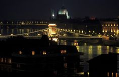 The capital of Hungary - Budapest at night.