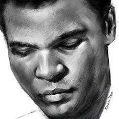 The Greatest Muhammad Ali. #muhammadali #ali #boxer #fighter #champ #champion #ring #great #greatest #legend #drawing #konni #konnidee #art #print #canvas #sport