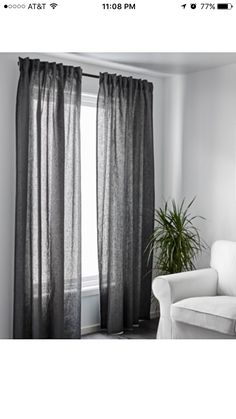 LILL Lace curtains, 1 pair, white | Net curtains, Bedrooms and ...