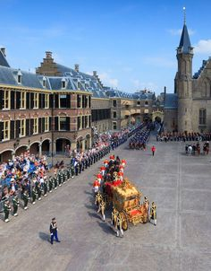 Prinsjesdag (Little Princes' Day) is the day on which the reigning monarch of…Nerherlands The Hague Netherlands, Kingdom Of The Netherlands, Leiden, Rotterdam, Amsterdam Holland, Cute N Country, Dutch Royalty, World Cities, Travel Around The World