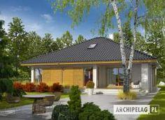 Eris II (wersja C) - projekt domu - Archipelag My Home Design, Modern House Design, Bungalow House Design, Gazebo, House Plans, Villa, Outdoor Structures, How To Plan, Architecture
