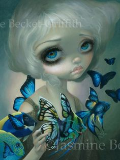 Poissons Volants (Flying Fish): Poissons Volants:  Les Poissons Bleus (The Blue Fish)   Art by Jasmine Becket-Griffith