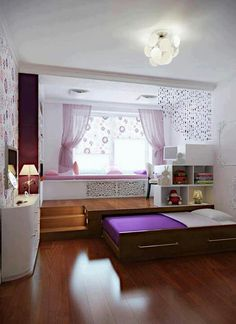 Check Out 30 Space Saving Beds For Small Rooms. A small bedroom can present big design challenges. When there& a depressingly finite amount of square footage to play with, must-haves like a bed and a dresser can be stubborn in their lack of flexibility. Small Bedroom Designs, Bed, Home, Interior, Space Saving Beds, Bedroom Design, Home Bedroom, Hidden Bed, Home Decor
