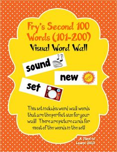 visual word wall cards for fry's second 100 words... and there are other sets that match!