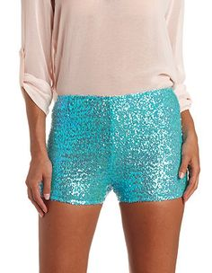 High-Waisted Sequin Shorts: Charlotte Russe