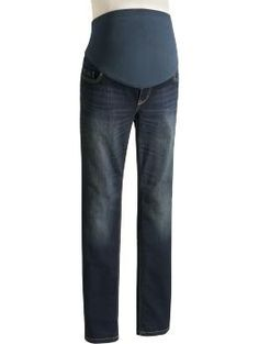 These are my favorite maternity jeans!  SO comfy with the full panel and still stylish.
